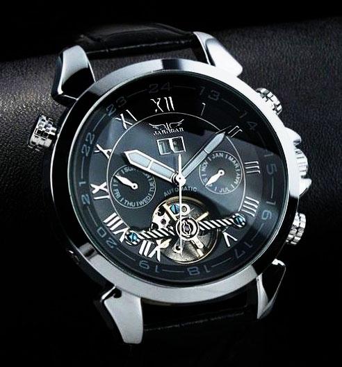 f10ec9ddaf79 Čierne hodinky s tourbillonom Paris